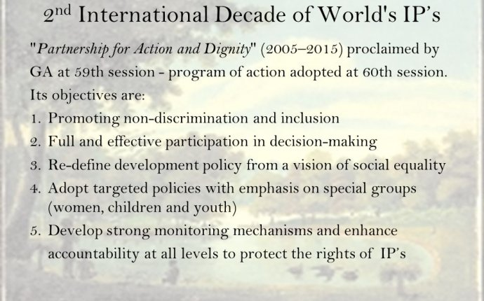 Indigenous People UN Declaration on the Rights of Indigenous