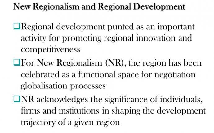regional development and planning